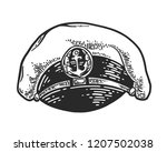 captain hat isolated on white...   Shutterstock .eps vector #1207502038