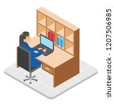 female advisor with her... | Shutterstock .eps vector #1207506985