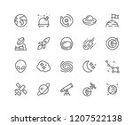 simple set of space related... | Shutterstock .eps vector #1207522138