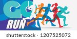 running people set of stylized... | Shutterstock .eps vector #1207525072