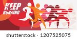 running people set of stylized... | Shutterstock .eps vector #1207525075