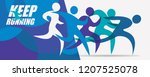 running people set of stylized... | Shutterstock .eps vector #1207525078