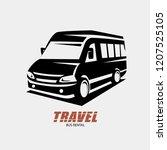 mini van outlined sketch ... | Shutterstock .eps vector #1207525105