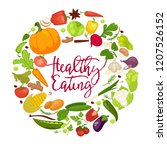 vegetables healthy food poster... | Shutterstock .eps vector #1207526152