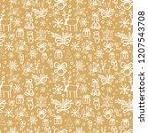 hand drawn seamless pattern... | Shutterstock .eps vector #1207543708