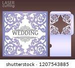 die laser cut wedding card... | Shutterstock .eps vector #1207543885
