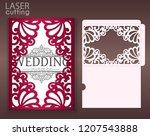 die laser cut wedding card... | Shutterstock .eps vector #1207543888