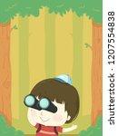 illustration of a kid boy using ... | Shutterstock .eps vector #1207554838