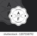 american football gridiron...   Shutterstock .eps vector #1207558792
