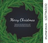 christmas background with fir... | Shutterstock .eps vector #1207563232