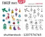 finger prints art. the task... | Shutterstock .eps vector #1207576765