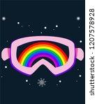 snowboard or ski goggles.... | Shutterstock .eps vector #1207578928
