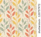seamless floral pattern | Shutterstock .eps vector #120757972