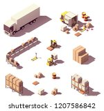 vector isometric low poly... | Shutterstock .eps vector #1207586842