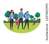 cute family cartoon   Shutterstock .eps vector #1207602595