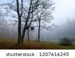 scary tree forest mist in... | Shutterstock . vector #1207616245
