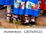 Stock photo traditional colorful shoes for folk costumes in spain dance shoes espadrilles 1207634122