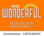 """wonderful"" vintage 3d ... | Shutterstock .eps vector #1207638325"