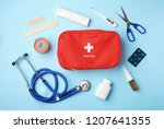 flat lay composition with first ... | Shutterstock . vector #1207641355