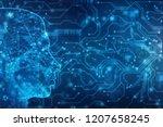 abstract artificial... | Shutterstock . vector #1207658245