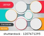 template for photo collage or... | Shutterstock .eps vector #1207671295