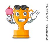 with ice cream cartoon trophy...