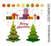 christmas concept christmas... | Shutterstock .eps vector #1207680655