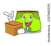 with box cartoon sport fashion... | Shutterstock .eps vector #1207683235