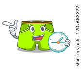 with clock cartoon sport... | Shutterstock .eps vector #1207683322