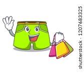 shopping cartoon sport fashion... | Shutterstock .eps vector #1207683325
