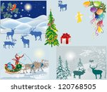 illustration with santa claus... | Shutterstock .eps vector #120768505