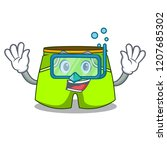 diving cartoon sport fashion... | Shutterstock .eps vector #1207685302