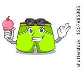 with ice cream cartoon sport... | Shutterstock .eps vector #1207685305