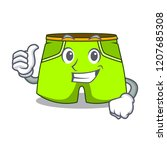 thumbs up cartoon sport fashion ... | Shutterstock .eps vector #1207685308