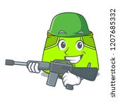 army character style short pant ...   Shutterstock .eps vector #1207685332