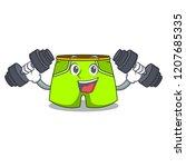 fitness character style short...   Shutterstock .eps vector #1207685335