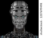 Robot Head Or Cyborg Face...
