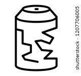 metal tin scrap material | Shutterstock .eps vector #1207706005