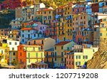colorful house  buildings and... | Shutterstock . vector #1207719208