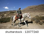 Horse Back Rider On Path ...