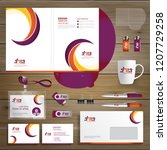 corporate business design... | Shutterstock .eps vector #1207729258