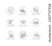 vector set of logos design and... | Shutterstock .eps vector #1207737928