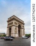 paris  france   july 14 2014 ... | Shutterstock . vector #1207742452