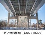 modern automobile bridge ... | Shutterstock . vector #1207748308
