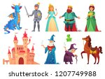 fairy tales characters. fantasy ... | Shutterstock .eps vector #1207749988