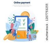 concept illustration of online... | Shutterstock .eps vector #1207753255