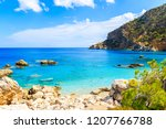 amazing coast with azure sea... | Shutterstock . vector #1207766788