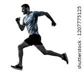 one caucasian man runner jogger ... | Shutterstock . vector #1207775125