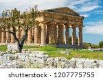 temple of hera ii  also... | Shutterstock . vector #1207775755