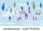 christmas holiday outdoor.... | Shutterstock .eps vector #1207791532
